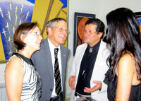 With the ambassador of US in Armenia. Yerevan 2012.