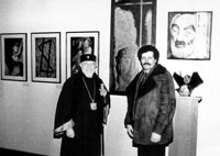 Opening of one-man exhibition, with the Catholicos of All Armenians