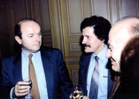 Opening of one-man exhibition, with the minister of culture of France Jacques Tubon. Paris 1993.